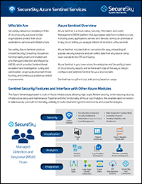 Azure Sentinel Services Cover
